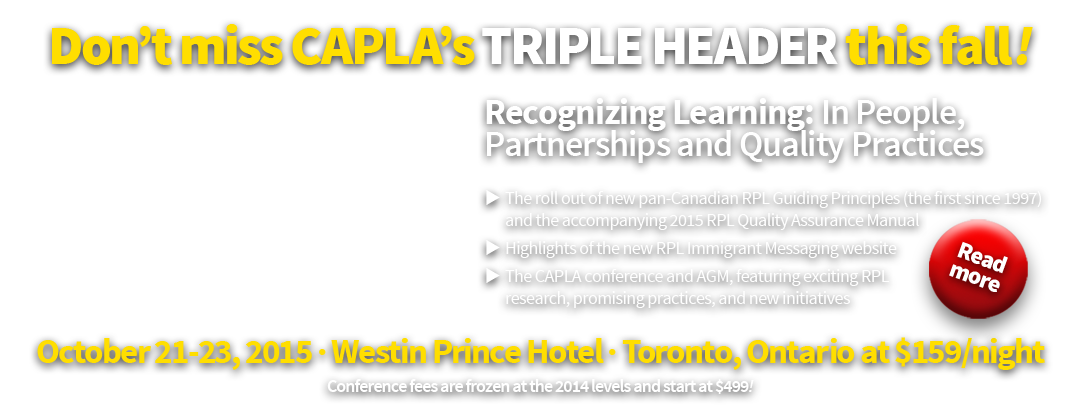 2015 CAPLA RPL Conference